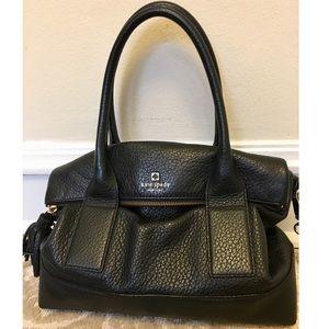 Kate Spade Black Pebbled Leather Satchel